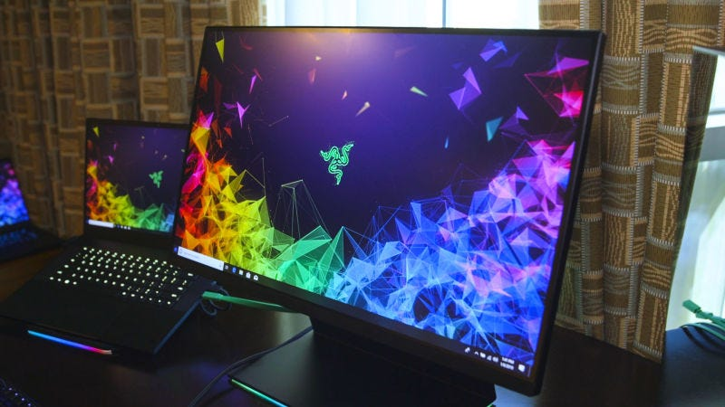 Illustration for article titled Razer Raptor y Razer Blade 15 Advanced: Así son el primer monitor de Razer para gaming y su nuevo laptop