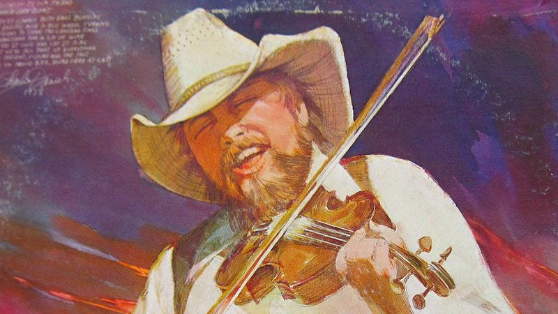 "Illustration for article titled Charlie Daniels' ""The Devil Went Down To Georgia"" is a Southern allegory"