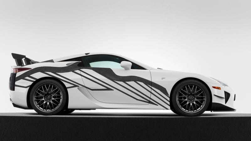 Illustration for article titled Lexus Is Unveiling Its LFA Art Car at the 24 Hours of Spa and I Don't Know How I Feel About It