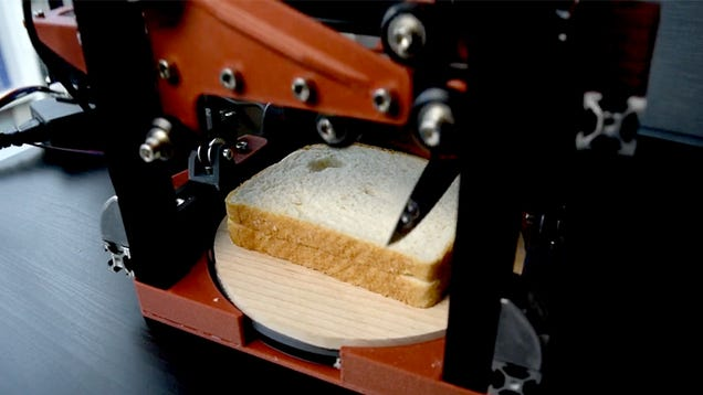 Resourceful Hacker Invents an Automatic Crust-Cutting Robot So They Never Have to Grow Up