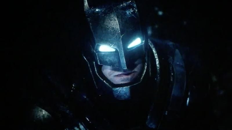 Ben Affleck's Batman, shining light on the evil that men and the impatient Internet do.