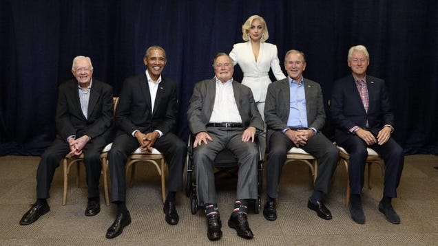 Here Is the Right Honorable Lady Gaga With All the Ex-Presidents