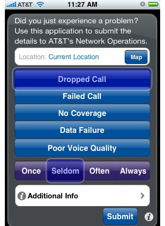 Illustration for article titled Mark the Spot Lets You Tell AT&T Exactly Where Your iPhone Crapped Out