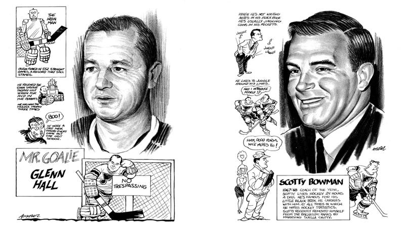 Illustration for article titled This 1969 St. Louis Blues Hand-Drawn Media Guide Is Wonderful