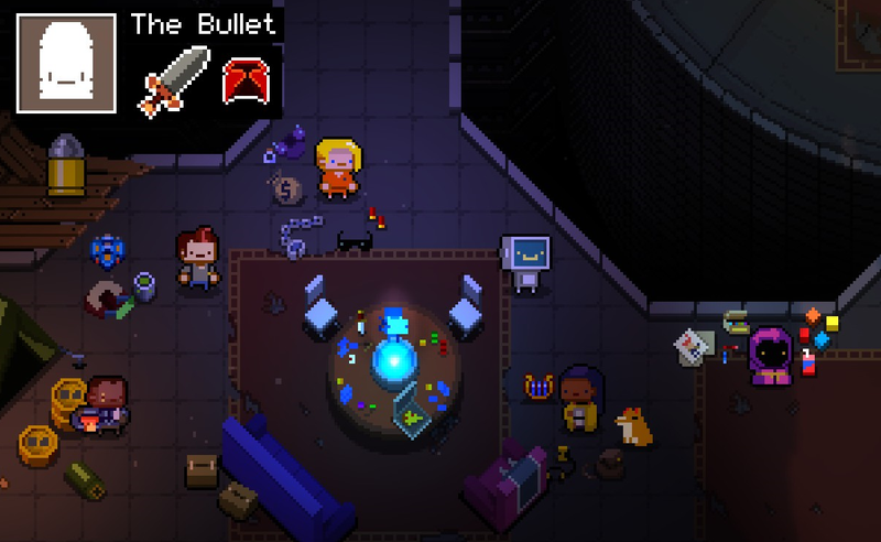 Illustration for article titled Enter The Gungeon Secret Lets You Play As A Bullet Who Shoots Bullets At Bullets