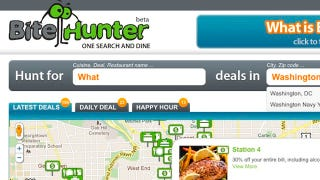 Illustration for article titled Bite Hunter Collects Daily Deals from Around the Web, Filters to Find the Best Bargains Near You