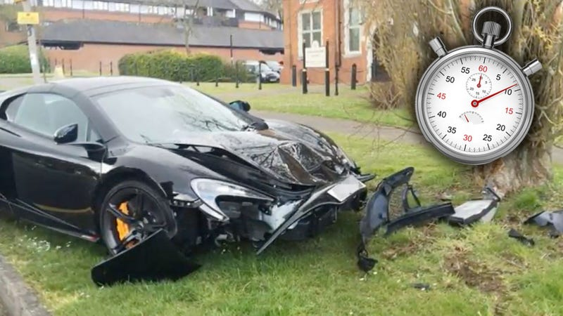 Guy Crashes McLaren 650S Into A Tree Ten Minutes After Buying It