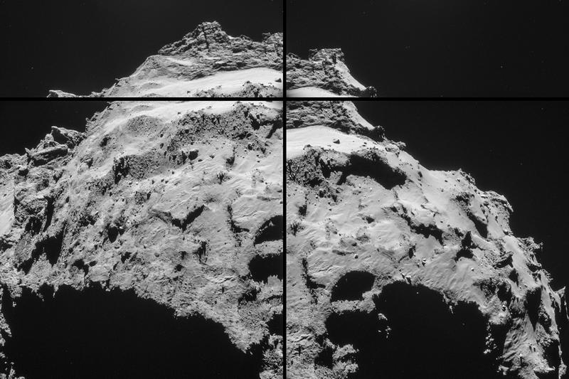 Illustration for article titled La zona de aterrizaje sobre el cometa 67P, a solo 18 km de distancia
