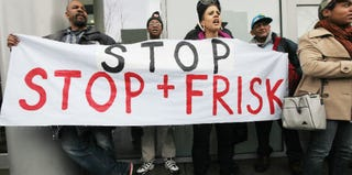 Opponents of NYC's stop-and-frisk policy rally in 2012. (Mario Tama/Getty Images)
