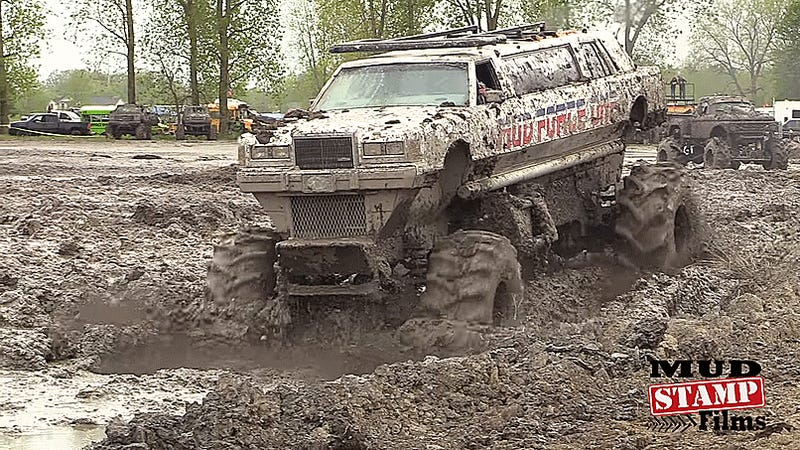 Trucks Gone Wild Michigan >> Bask In The Classiest Glory Of This Mud-Coated Monster-Truckified Limousine