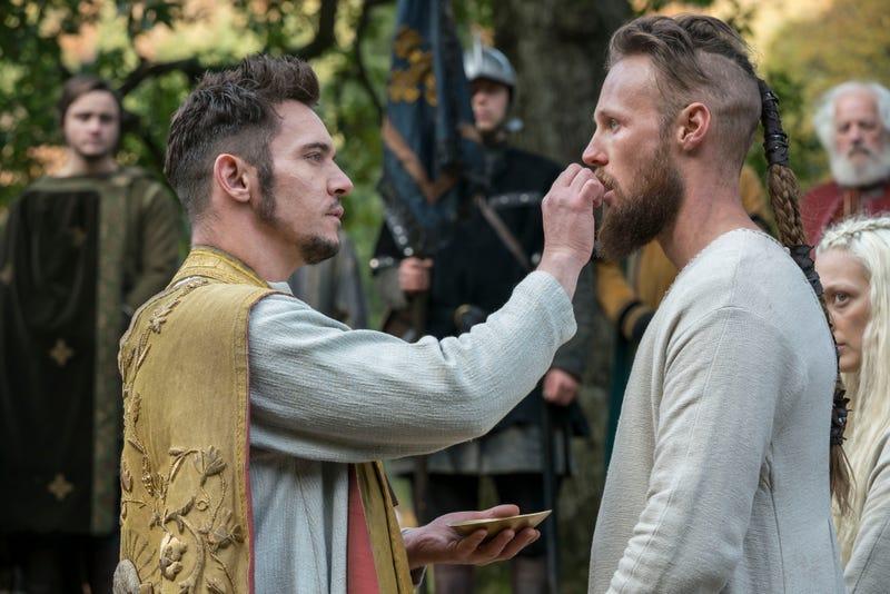 Jonathan Rhys Meyers as Bishop Heahmund, Jordan Patrick Smith as Ubbe