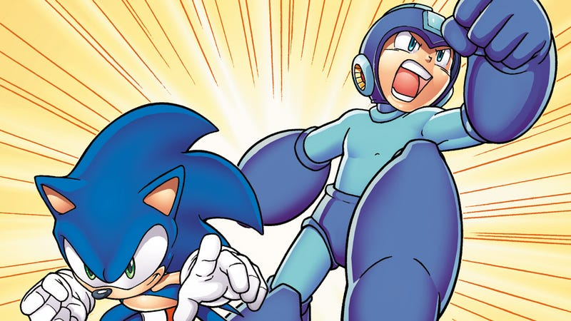Illustration for article titled Sonic and Mega Man Team Up for the First Time Ever in An Archie Comics Crossover