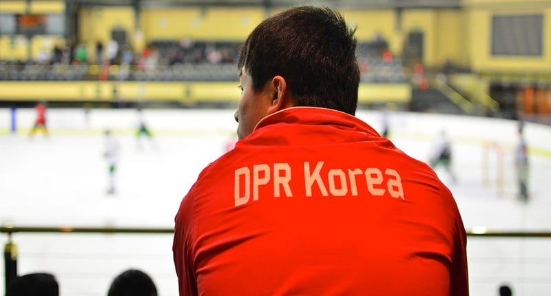 Illustration for article titled Photos: The North Korean Hockey Team