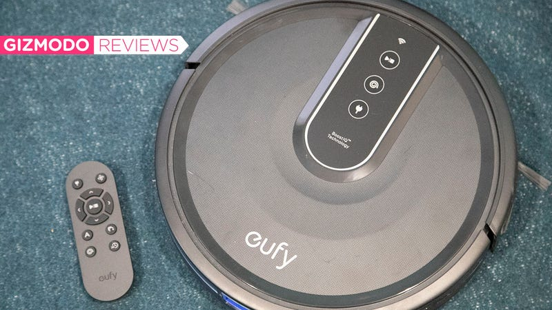The Eufy RoboVac 35C isn't as fancy as a high-end Roomba, but it gets the job done.