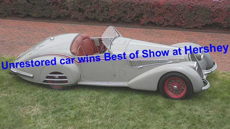 Illustration for article titled Unrestored car judged best at Hershey Concours – What Next?
