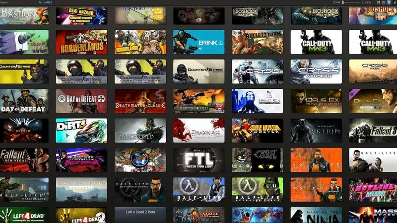 how to keep your overflowing steam library neatly organized