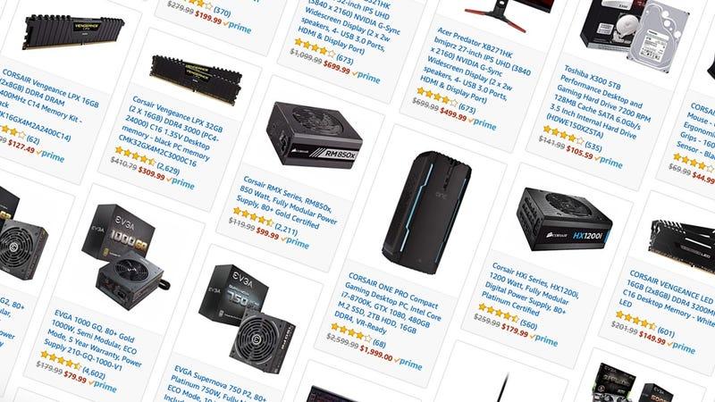 Accesorios y componentes para PC | AmazonGráfico: Shep McAllister