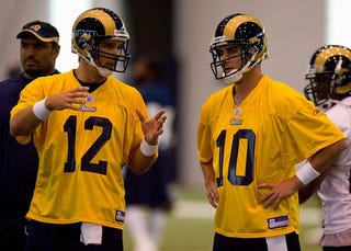 """Illustration for article titled Marc Bulger Benched For Foggy-Headed Trent Green, John """"Toot Toot"""" Clayton Reports"""