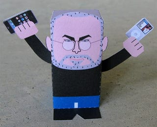 "Illustration for article titled DIY Papercraft Steve Jobs: Enact Your ""One more thing..."" Fantasy"