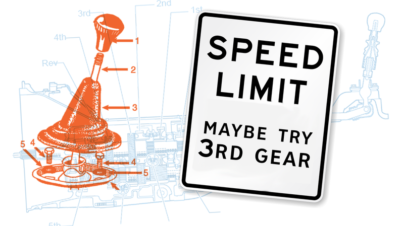 Illustration for article titled A Manual Transmission Might Keep You From Getting Speeding Tickets