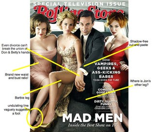 Illustration for article titled Mad Men Stars Get Botched Rolling Stone Photoshop Job