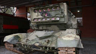 Illustration for article titled The Secret Soviet Laser Tank
