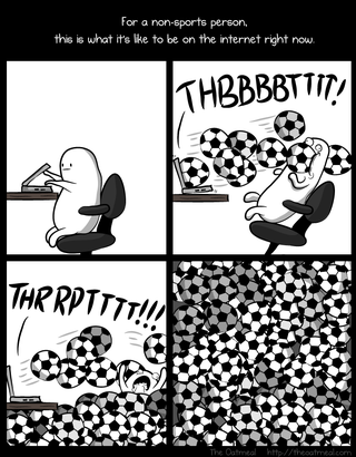Illustration for article titled For a non-sports person, this is what it's like to be on the internet right now