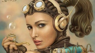 Illustration for article titled Gorgeous Portraits of Steampunk's Jetpack-Wearing Superwomen