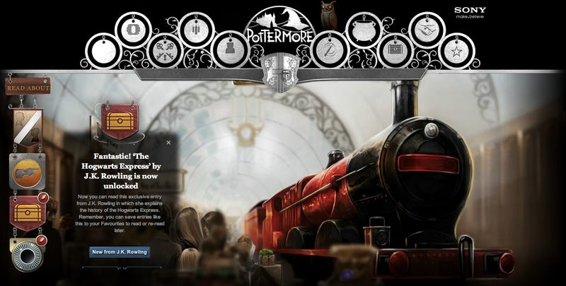 Illustration for article titled First Glimpses inside J.K. Rowling's Magical Online World of Pottermore