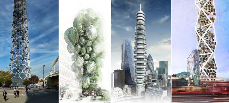 Illustration for article titled 10 propuestas de rascacielos imposibles para Londres