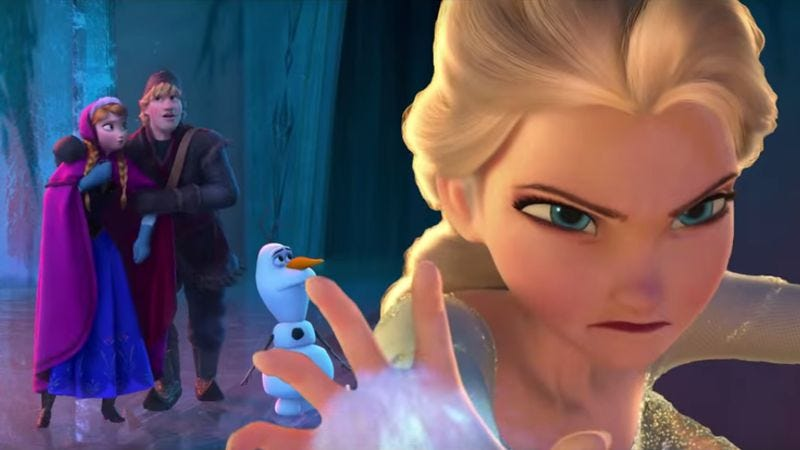 Illustration for article titled Trailer recut suggests that Frozen's Elsa is a formidable villain