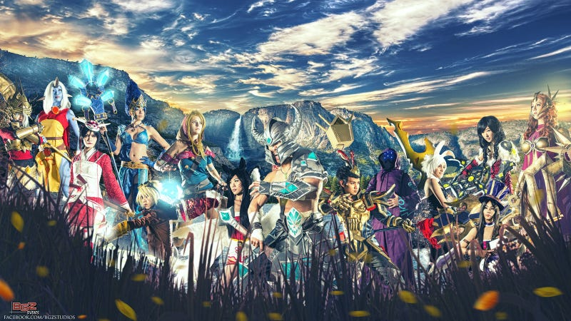 Illustration for article titled League Of Legends Cosplay: The Wilderness Party