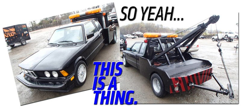 Illustration for article titled The World's Only BMW 3-Series Dually Tow Truck Can Be Yours!