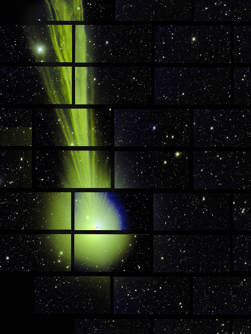 Illustration for article titled Dark Energy Camera Takes Accidental, Magnificent Photo of Comet Lovejoy