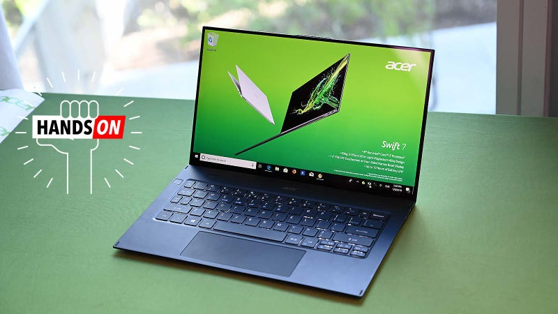 Illustration for article titled Acer's New Swift 7 Is So Thin It Doesn't Seem Real