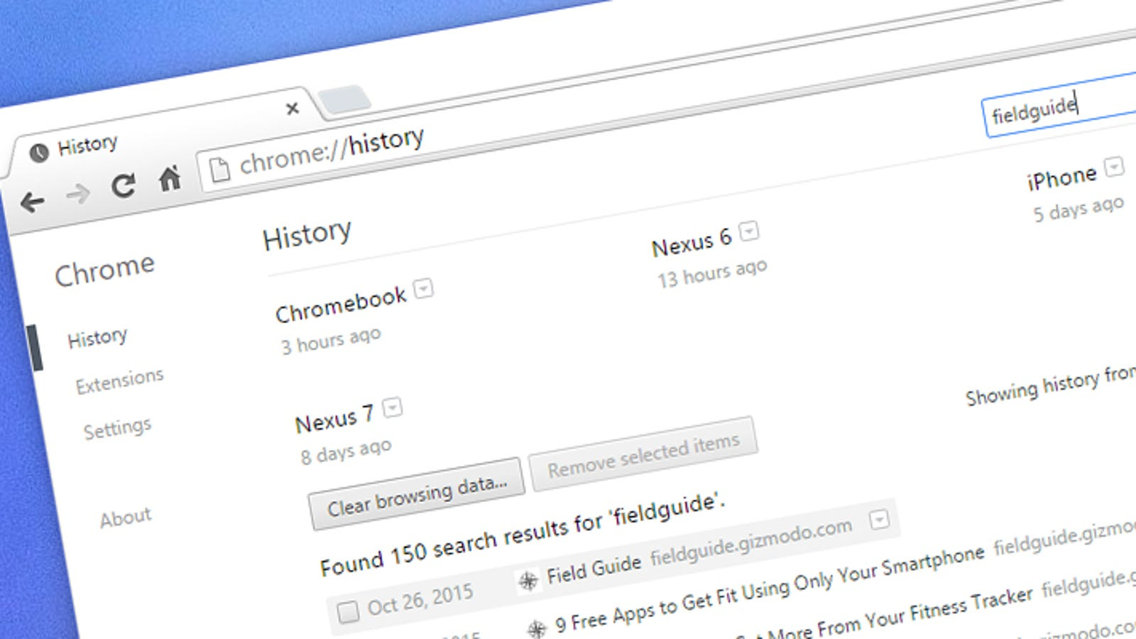 How to Delete Just One Site From Your Chrome Browsing History