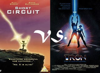Illustration for article titled Retro Frankenfight: Short Circuit Vs. TRON