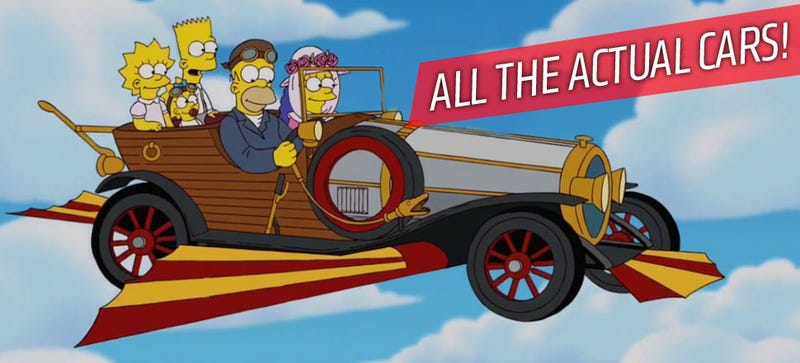 Illustration for article titled A Guide To Every Real-World Car Used In The Simpsons