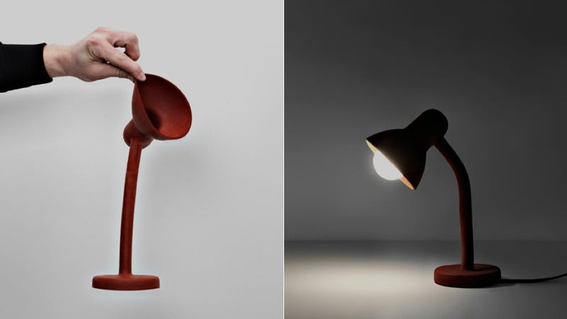 Illustration for article titled You'll Never Break This Awesome Rubber Lamp