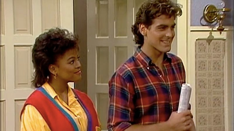 George Clooney's debut on Facts Of Life, 31 years ago today (Screenshot: Shout! Factory)