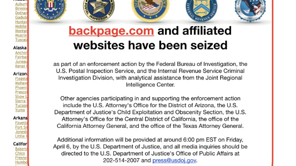 who replaced backpage