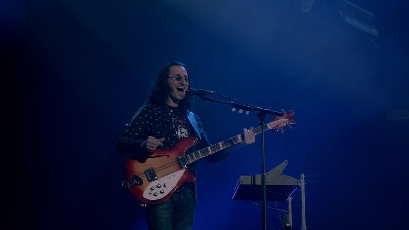 Geddy Lee performing during Rush's R40 tour.