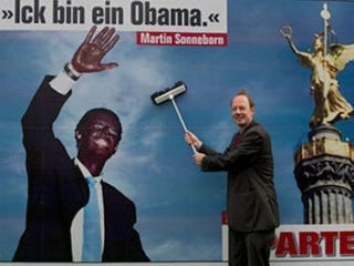Illustration for article titled German Leader's Obama Blackface Billboard