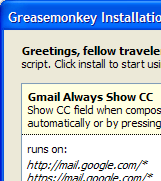 Illustration for article titled Gmail Show CC/BCC User Script Updated