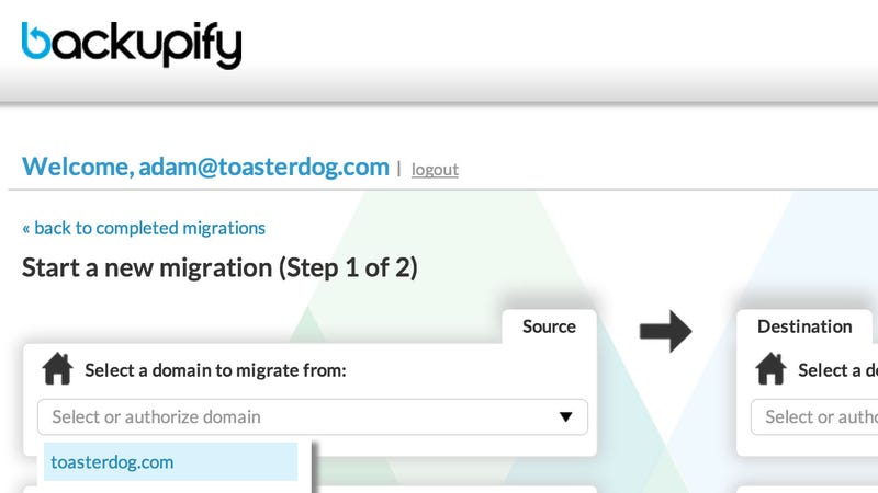 Illustration for article titled Backupify Migrator Moves One Google Apps Account to Another, Hassle-Free