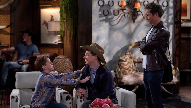 Samuel Faraci, Sean Hayes, and Eric McCormack in Will & Grace