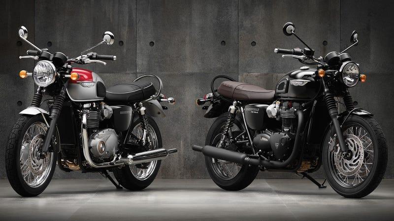 2016 triumph bonneville t120 and t120 black: an old-school icon