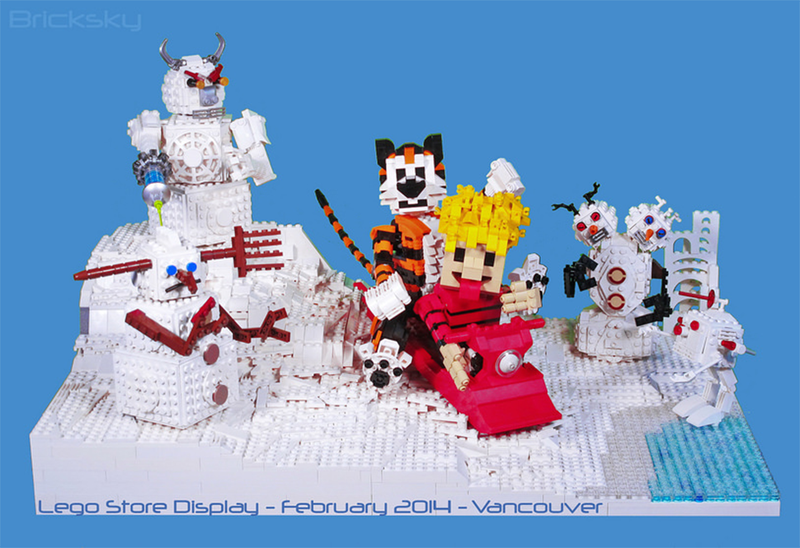 Illustration for article titled It's The Perfect Weather For LEGO Calvin And Hobbes Snowmen