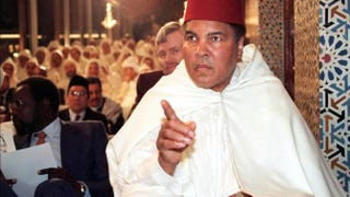 In this undated photo, Muhammad Ali participates in a religious ceremony for the Muslim holy month of Ramadan at the Royal Palace in Rabat, Morocco.ABDELHAK SENNA/AFP/Getty Images