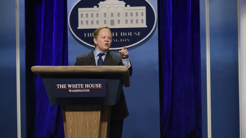 Illustration for article titled Melissa McCarthy spices up Saturday Night Live in a surprise turn as Press Secretary